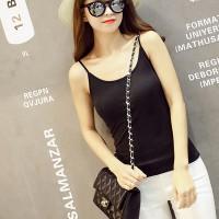 Women Casual Wear Cotton Fabric Top T Shirt - Black