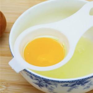 Egg Yolk Separator Dispenser Baking Tool - White