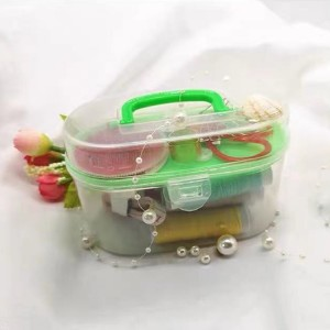 10 In 1 Multifunction Thorn Rust Sewing Kit Box - Green