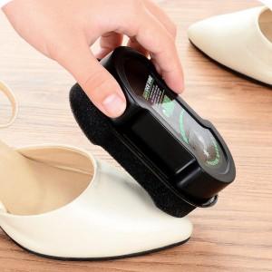 Portable Multifunctional Colorless Sponge Shoe Polish - Black