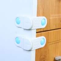 Tow Set Of child Safety Cabinet Lock Band - White