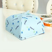 One Piece Creative Folding Food Safety Cover - Blue