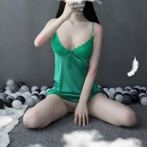 Breast Temptation Nightwear Sexy Lingerie Set - Green