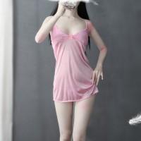Breast Temptation Nightwear Sexy Lingerie Set - Pink
