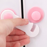 Child Safety Refrigerator Cabinet Protection Lock - White Pink
