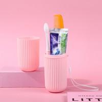 Portable Travel Toothbrush Paste Storage Box - Pink