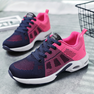 Lace Closure Sports Wear Gym Sneakers - Pink