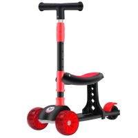 High Quality Adjustable Height One Foot Slide Child Pedal Scooter