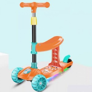High Quality Adjustable Height One Foot Slide Child Scooter
