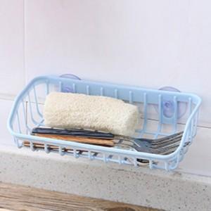 Double Sucker Drain Basket Shelf - Blue