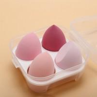 Four Pieces Skin Toning Makeup Puffs - Pink
