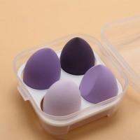 Four Pieces Skin Toning Makeup Puffs - Purple