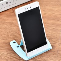 Folding Two Step Adjustable Simple Mobile Stand - Blue