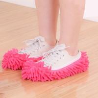 Floor Cleaning Anti Slip Microfiber Shoe Covers - Pink
