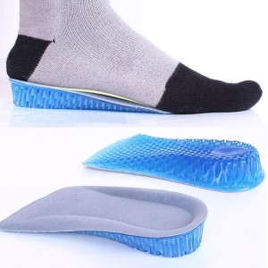 Double Layers Shoe Invisible Height Increase Half Shoe Pads - Blue