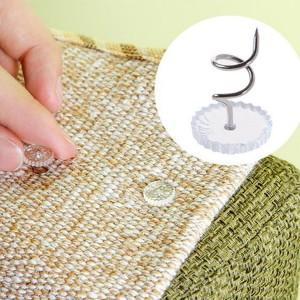 20 Pcs Sofa Bedsheet Retainer Screws  Buttons - Transparent
