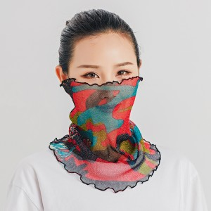 Summer Multi Function Face Mask Neck Guard  Sunscreen - Blue