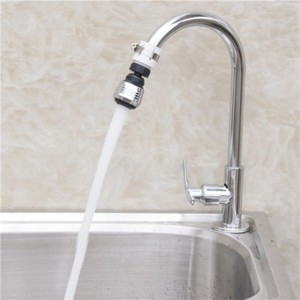 Short Rotatable Bathroom Kitchen Accessories Water Faucet - Silver