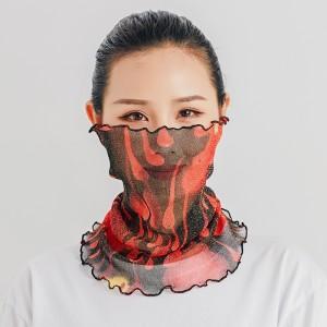 Summer Multi Function Face Mask Neck Guard Sunscreen - Orange