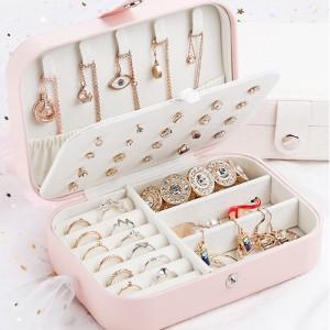 Jewellery Earring Necklace Multiuse Fashion Storage Box - Pink