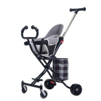 Easy Portable Soft Comfortable Baby Stroller - Black