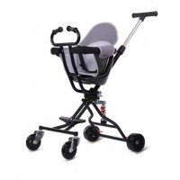 Trendy Design Foldable Carriage Comfortable Stroller For Kids - Black
