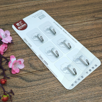 Set Of 6 Multi Purpose Strong Glue Wall Hook - Transparent