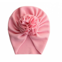 Elegant Flower Infant Turban Hat Toddler Newborn Cap Bonnet - Pink