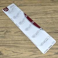 Multi Purpose 6 Row Strong Glue Wall Hanger - Transparent