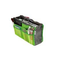 Nylon Zipper Closure Traveller Makeup And Multipurpose Bags - Green