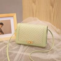 Mesh Pattern Twist Lock Luxury Messenger Bags - Green
