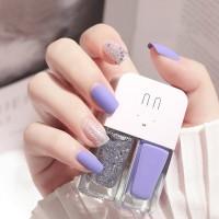 Glittery Water Proof High Quality Nail Polish - Purple