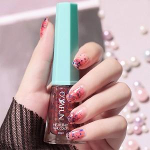 Glittery Cute Water Resistant Women Fashion Nail Polish 11 - Multicolor