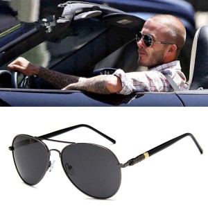 Fashionably Driver Polarized Sunglasses - Black