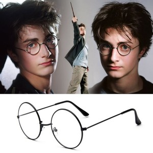 Round Metal Frame Eyewear Optical Glasses - Black