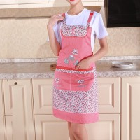 Cotton Material Kitchen Essential Hot Oil Protective Safety Apron - Red