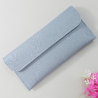 Handheld Button Closure Sober Wallet - Blue
