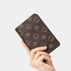 Printed High Quality Passport Storage Wallet - Brown