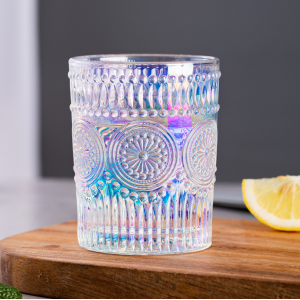 Glass Boho Engraved Arabic Glass Ware Tumbler - Multicolor