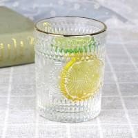 Glass Boho Engraved Arabic Glassware Tumbler - Golden
