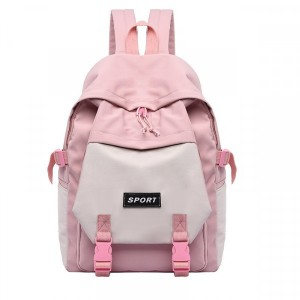 Canvas High Quality Contrast Girls Backpacks - Pink