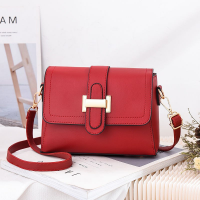 Magnetic Closure Synthetic Leather Messenger Bags - Red