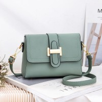 Magnetic Closure Synthetic Leather Messenger Bags - Green