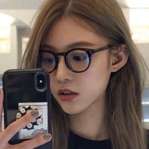 Anti Computer Blue Light Round Lens Glasses - Leopard