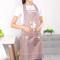 Cute Bunny Kitchen Essential Hot Oil Protective Safety Apron - Coffee