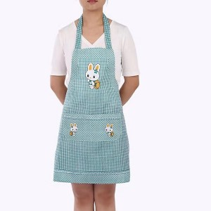 Cute Bunny Kitchen Essential Hot Oil Protective Safety Apron - Green