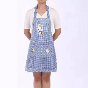 Cute Bunny Kitchen Essential Hot Oil Protective Safety Apron - Blue