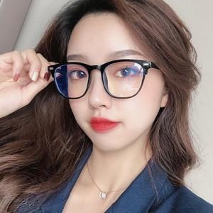 High Quality Retro Square Frame Glasses - Black