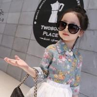 Kids Stylish Cat Eye Shades Sunglasses For Children - Black