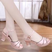 Buckle Closure Women Fashion Party Wear Sandals - Pink